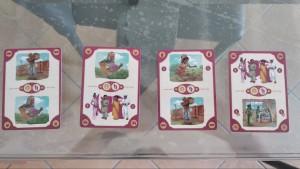 Le carte azione: due grandi azioni principali e, al centro, due azioni secondarie