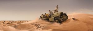 Sembra che l'equipaggio si sia arenato nel deserto