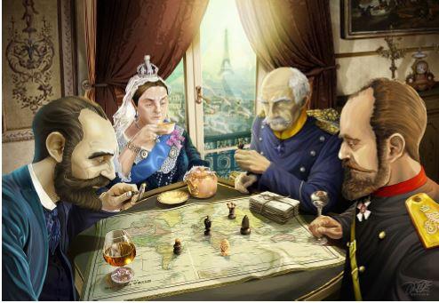 Un immagine che ben evidenzia la spartizione del Mondo. Li riconoscete tutti?