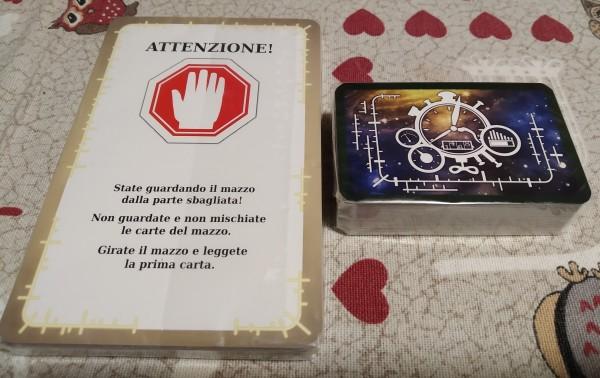 Mazzo di carte appena aperto