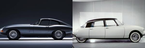 La Jaguar di Diabolik (credit: automobile.ac.it) e la Citroen di Ginko (credit: auto.it)