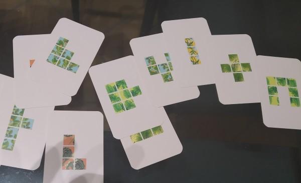 Carte con elementi da incastrare
