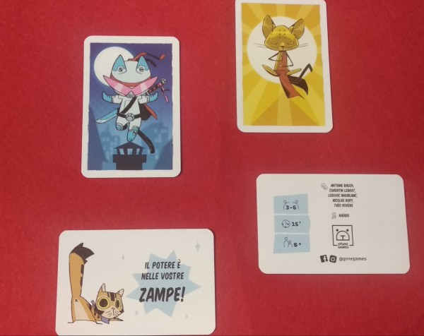 Carte speciali, da usare in base al numero di giocatori, con alcune carte riepilogative