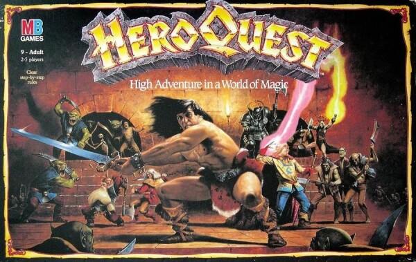 Hero Quest nella confenzione originale (questa in inglese)
