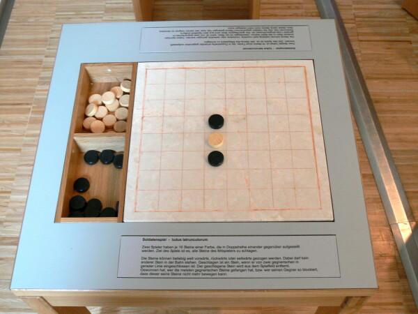 Una riproduzione del Ludus in un museo tedesco