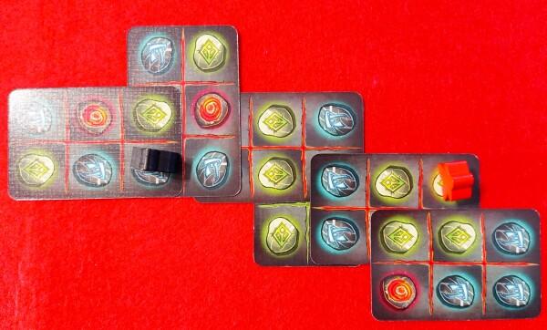 Il Maestro delle Rune nero controlla una regione con 3 Rune blu 8 (3 punti)