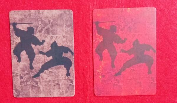 Il dorso delle carte permette di capire la forza della guardia che andremmo affrontando