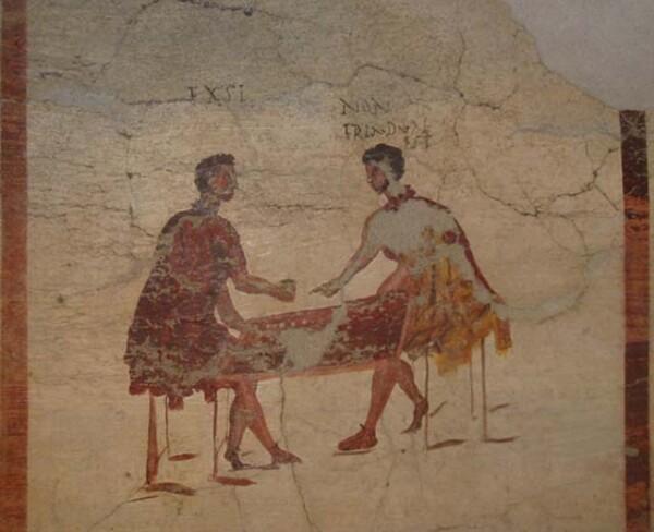 Questa è forse l'immagine più famosa, proveniente dal Museo archeologico di Napoli, ma non è visibile al pubblico al momento (credit: archivio personale di Monica Silvestri)