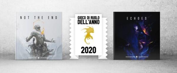 Il banner che decreta la vittoria del Gioco di Ruolo dell'Anno 2020. Echo