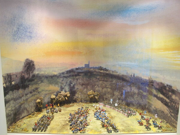 11 giugno 1289 si combattè la Battaglia di Campaldino, dove prese parte anche Dante. riporterà qusta esperienza nel Cato V del Purgatorio. (credit: wikipedia.it)