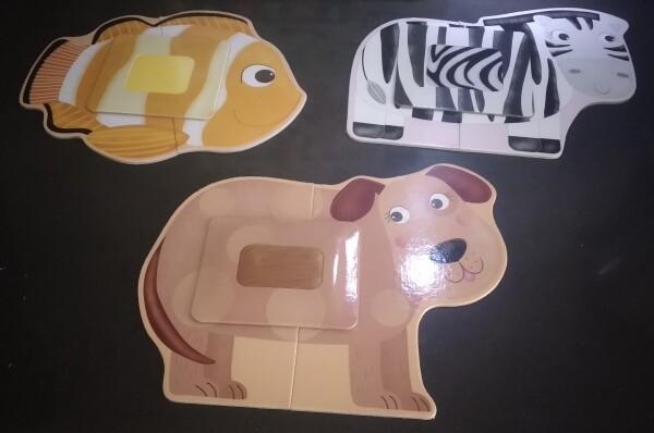 Gli animali di Tactile Montessori assemblati