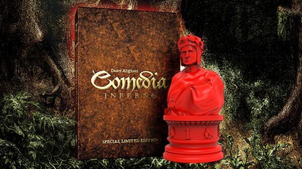 """Una versione di Dante Alighieri: Comedia - Inferno al posto dei gettoni ha """"statuine"""" prodotte da Orco Nero. Molto sciccoso"""