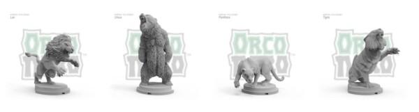 La parte delle miniature è curata da Orco Nero. I gladiatori combattevano spesso contro animali feroci e Orco Nero qui ben li rappresenta (credit: orconero.com)