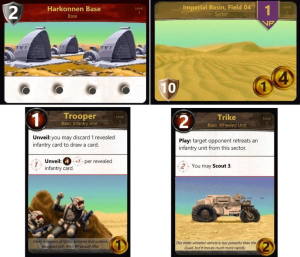Alcune carte di Battle for Arrakis (credit: BGG)