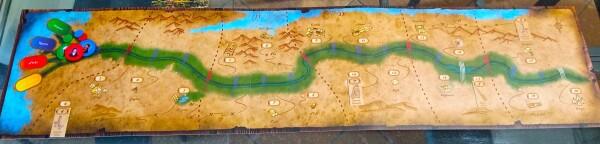 Il tabellone con le regioni degli scavi è lungo un metro